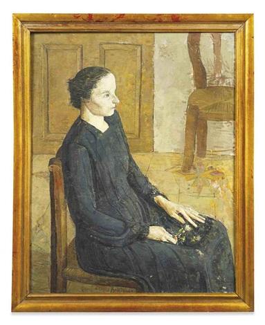 mujer sentada by antonio lópez garcía