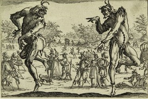 i due pantaloni from the series maschere della commedia dellarte by jacques callot