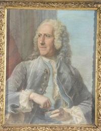 portrait d'etienne perrinet, sieur de jars et de boucart (1675-1762) prenant du tabac by maurice quentin de la tour