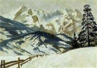 winter im gebirge by hermine von janda