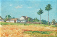 farm in countryside by frantisek kavan