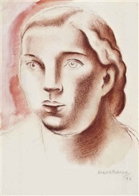 portrait of a woman by frank dobson