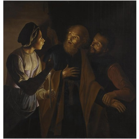the denial of saint peter by georges de latour