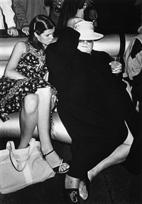 kate harrington and truman capote at studio 54, new york, june 22 by ron galella