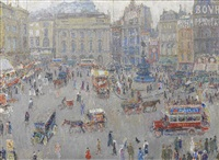 piccadilly circus by léon de smet