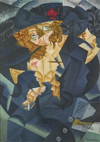 ritmo astratto di madame m.s. (abstract rhythm of madame m.s.) by gino severini