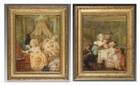 l'abbé gourmand (+ l'abbé curieux; pair) by johann eleazar schenau