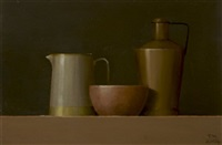 still life with pink bowl by trudie mooney