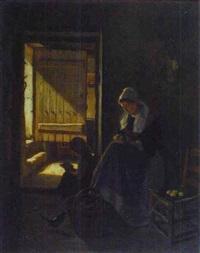 intérieur normand, femme à la cuisine by charles fortin