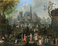 kirmes in einer stadt by arnold (van haecken) aken
