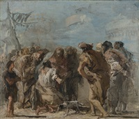 christ healing the blind man by giovanni domenico tiepolo