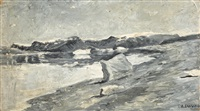 redcliffe house, winter quarters of the peary party, and eskimo encampment, peary relief expedition by frank wilbert stokes