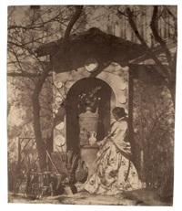 premier essai au collodion, suzanne goix entourée de céramiques by jules ziegler and hippolyte bayard