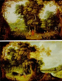 paisaje con escenas bíblicas by kerstiaen koninck