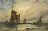 boats at sea by edward packbauer