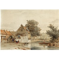 market day in boxtel by jan weissenbruch