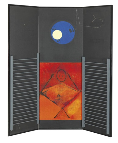 le grand ignorant screen in 3 parts by max ernst