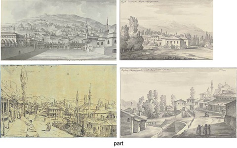 the courtyard of the khans palace at bakhchisarai 4 other views in the crimea 5 works some smaller by giacomo quarenghi