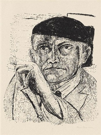 selbstbildnis pl1 from day and dream by max beckmann