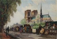 les bouquinistes sur les quais de la seine à paris by frank-will