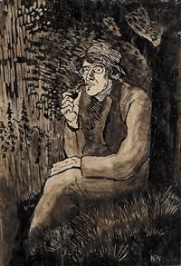 stort selvportrett by nikolai johannes astrup