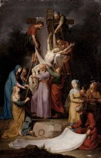 die abnahme jesu christi vom kreuz (mit assistenzfiguren) by konrad huber von weissenhorn