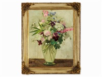 floral still life by richard klein