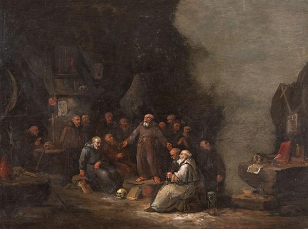 betende mönche by egbert van heemskerck the elder