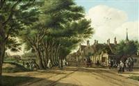 a view of bocht van guinee and the huygenspark, the hague by paulus constantijn la (la fargue) fargue