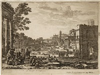le campo vaccino - the roman forum by claude lorrain
