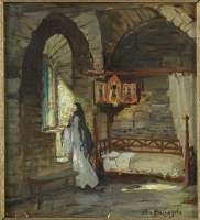 une nonne dans sa cellule by appolinari mikhailovich vasnetsov