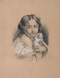 la jeune fille à la colombe by alexandre séon