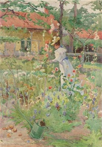 lady in the garden by eurilda loomis france