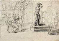 le peintre et son modèle by jean henri marlet