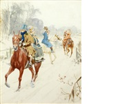 a snowy farewell by gilbert scott wright