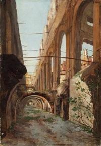 ruines de la cour des comptes by auguste aristide fernand constantin