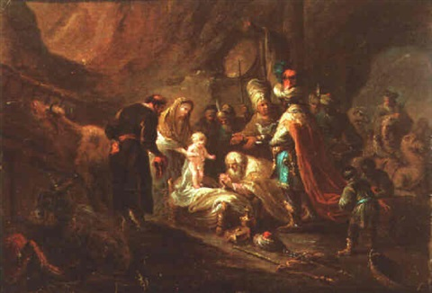 the adoration of the shepherds by german school frankfurt 18