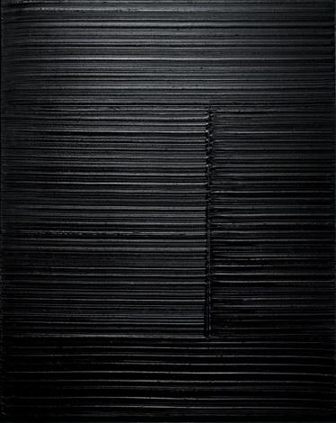 peinture 100 x 81 cm 4 janvier 1989 by pierre soulages