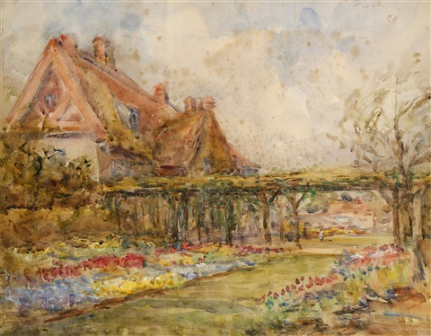 cottage garden by john peter russell