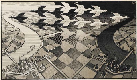 day and night by m c escher