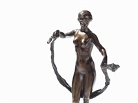 bronze of a dancer by georges morin