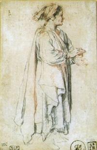 personnage au bonnet debout, de profil à droite by jacques-andré portail