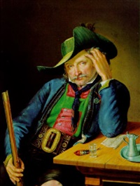 tiroler schütze in rittner tracht by georg wachter