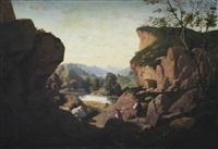 paysage d'italie by claude-amié-charles quinsac