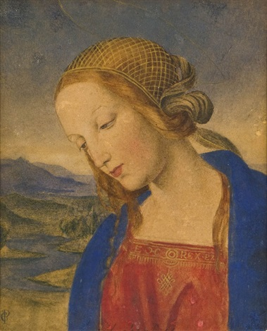 madonna after perugino by carl gottlieb peschel