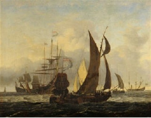 navires en pleine mer by ludolf backhuysen the elder
