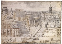 view of the capitol, rome by lievin cruyl