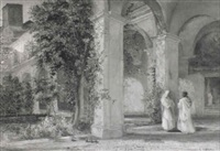 the monastery courtyard by charles earle
