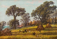 rural idyll in brittany by william baptiste baird
