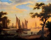 port au crépuscule by frans swagers